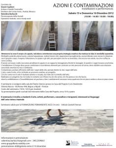 Azioni Contaminazioni 1 - 2012
